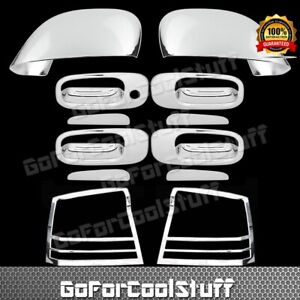 For 2006 2010 Dodge Charger Chrome Mirror Door Handle Tail Light Bezel Cover