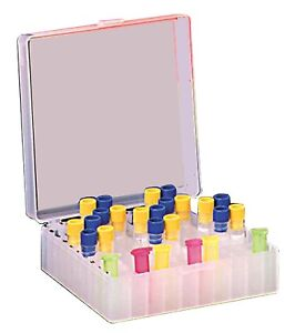 Cryogenic Storage Box Hinged Lid 100 Tube Capacity Natural 5 case