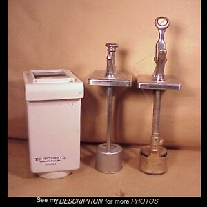2 Antique Drugstore Syrup Pump Dispensers Soda Fountain Fischman Co