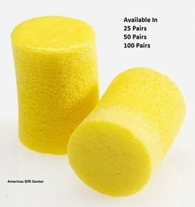 3m Earplugs Classic Uncorded Earplug Individually Wrapped Available In 25 50 100