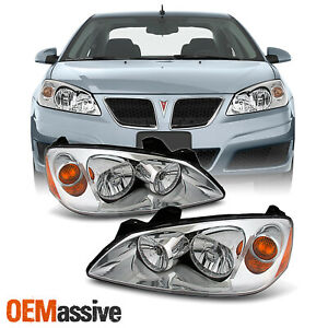 Fit 2005 2010 Ponitac G6 Headlights Lamps Replacement Left Right 05 07 08 09 10