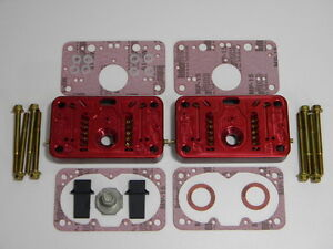 Holley Qft Aed Ccs 650cfm Pro Billet Metering Block Kit 2 Circuit 5 Emulsion Red