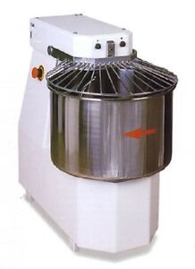 Spiral Dough Mixer 50 Liters 42kgs 2 Speed Made In Italy Patented Spiral