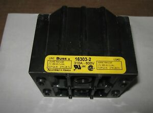Cooper Bussmann 16303 2 Power Distribution Block 310a 600v Used