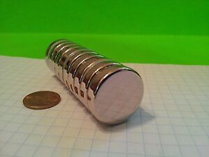 10 Neodymium N52 Disc Magnets Super Strong Rare Earth Magnets 1 X 1 4