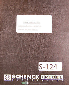 Schenck Ar 23 235 Balancing Machine Users Instruction Manual 1954