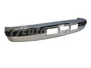 Bundle For 92 97 F150 F250 F350 Diesel Front Bumper Chrome Face Bar Outer Pad 3p