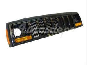 For 97 01 Cherokee Header Panel Grille Headlight Door Park Side Marker Light 8pc
