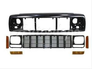 For 1997 2001 Cherokee Header Panel Grille Headlight Door Park Corner Light 8pcs