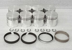 Silvolite Ford Mercury 312 Y block Pistons rings Std Thunderbird 1066