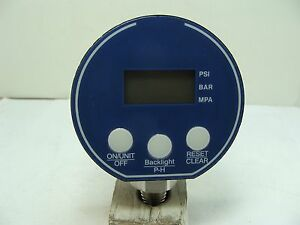 Digital Pressure Gauge 3 Dial 1 4 Npt 9v Battery 0 1000 Psi Led Display