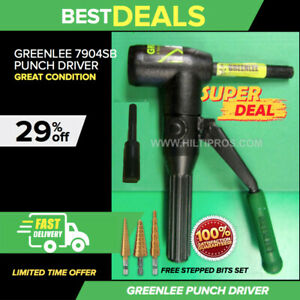 Greenlee 7904sb Quick Draw 90 Hydraulic Punch Driver Great Condition Fast Ship