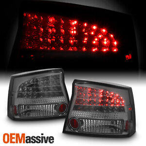 Fits 06 08 Dodge Charger Smoked Philips Lumileds Led Tail Lights Brake Lamps Set