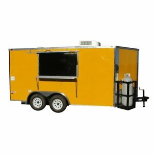 Concession Trailer 8 5 x14 Yellow Food Vending Event Concession