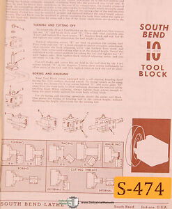 South Bend 10 10 in one Lathe 156 Page Parts And Accessories Manual 1979