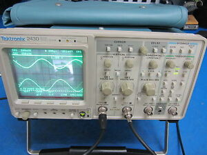 Tektronix 2430 Digital Oscilloscope With Manual Very Clean Pass Self Test