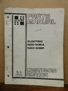 Hyster Electric Forklift N30ba N40ba N50ba N30br N40br Parts Manual Book 599710