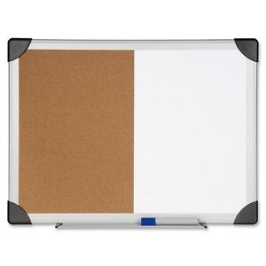 Lorell Dry Erase cork Board Combination 24 Height X 36 Width Natural