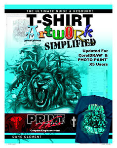T shirt Artwork Simplified Coreldraw Photo paint X5 Guide Resource Screen Print