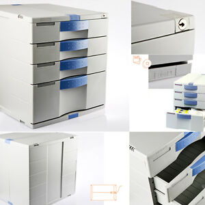 Max File Cabinet Flat 4 Drawers Index Key Lock Your Home Office Life Mk040