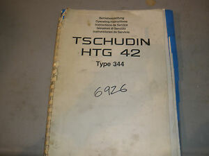 Tschudin Htc 42 Type 344 Grinder Operating Manual