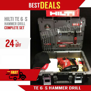 Hilti Te 6 s Great Condition Complete Set Free Bits Lots Of Extras fast Ship