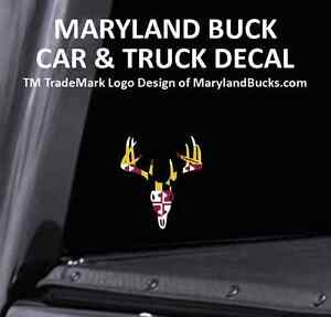 Maryland Buck Sticker Decal 10 Point Whitetail Deer Car Truck Marylandbucks Com