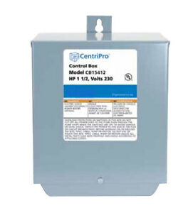 Centripro 1 5 Hp Water Well Pump Deluxe Control Box 230v With Contactor