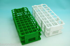 Lab Plastic Test Tube Rack 90 Tubes 13mm white A Set Of 10 New