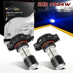 2x H16 5202 Ps24w Led Bulbs For Car Truck Suv Fog Driving Light Lamps Blue