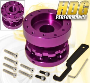For Chevy Steering Wheel Hub Adapter Adjustable Extension Universal 300mm Purple