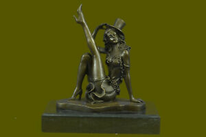 Art Nouveau Sexy Actress Show Girl Museum Quality Bronze Sculpture Figurine