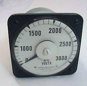 Ge General Electric Ac 8ab 18v7ak1 Volt Meter 0 3000 Fsv 150