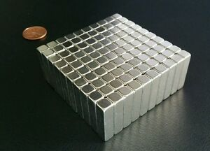 100 Neodymium N52 Block Magnets Super Strong Rare Earth 1 X 1 4 X 1 4