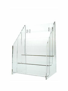 3 Tier Counter Top Wall Mount Brochure Literature Holder Clear Lot Of 12