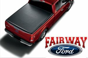 09 Thru 14 Ford F 150 Oem Genuine Ford Soft Roll up Tonneau Bed Cover 5 5 New