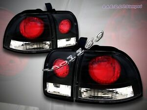Fit For 1996 1997 Honda Accord Altezza Tail Lights Jdm Black 96 97 New