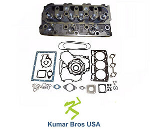 New Kubota D1105 Complete Cylinder Head Full Gasket Kit