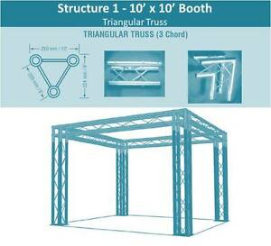 10x10 Trade Show Booth By Versatruss Plus
