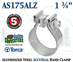 As175alz 1 75 1 3 4 Genuine Torca Accuseal Aluminized Steel Band Exhaust Clamp