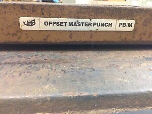 Offset Plate Punch