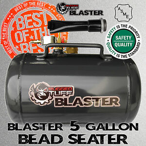 Rugged Tuff Blaster Tire Bead Seater Pneumatic Air Seating Tool 150psi Asme Tank