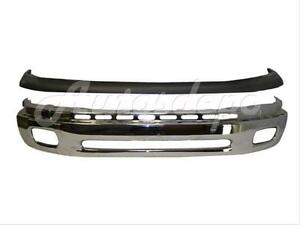 For Toyota 2000 2006 Tundra Front Steel Bumper Face Bar Chrome Upper Cap Pad 2pc