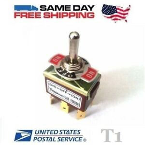 Momentary Dpdt Double Pole Double Throw 6 pin on off on 20amp Toggle Switch