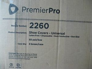 Disposable Shoe Covers Universal Latex Free Non Conductive Non skid 150 Count