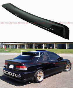 For 1996 2000 Honda Civic 2 Dr Coupe Smoke Tinted Rear Roof Aero Window Visor