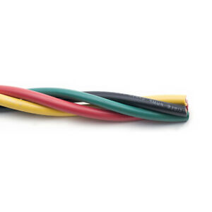 500 4 3 Twisted Submersible Cable With Ground Copper Well Pump Wire 600v