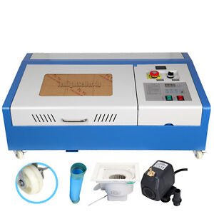 40w Co2 Usb Laser Cutting Machine Engraving Engraver Wood Cutter W 4 Wheels