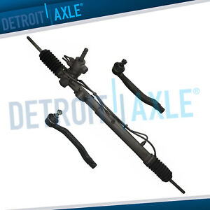 Complete Power Steering Rack Pinion Both Outer Tie Rods Honda Accord 4 Cyl