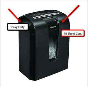 Heavy Duty Commercial Paper Shredder Crosscut Cd Office Protection Shredding 18